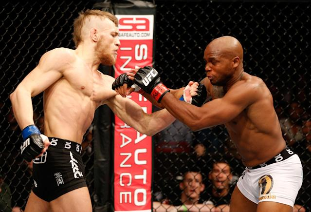"""<p>McGregor signed with the UFC and wasted little time making a big impression. """"The Notorious"""" flattened Marcus Brimage with his big left hand to end their bout in just 67 seconds at UFC on Fuel 9 in Stockholm in April 2013. McGregor earned a $60,000 Fight of the Night bonus and made worldwide headlines for noting he had been on the public dole as recently as the week before the fight. He also asked for, and received, a day with UFC president Dana White traveling around Las Vegas in the latter's convertible, a bold request that helped sell White on going all out in pushing McGregor. </p>"""
