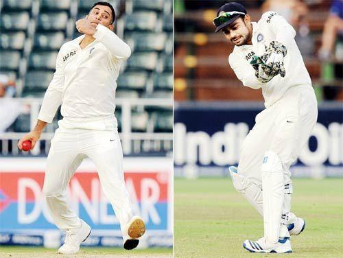 Virat Kohli became the wicket-keeper 2 times for India whereas MS Dhoni was at the bowling end.