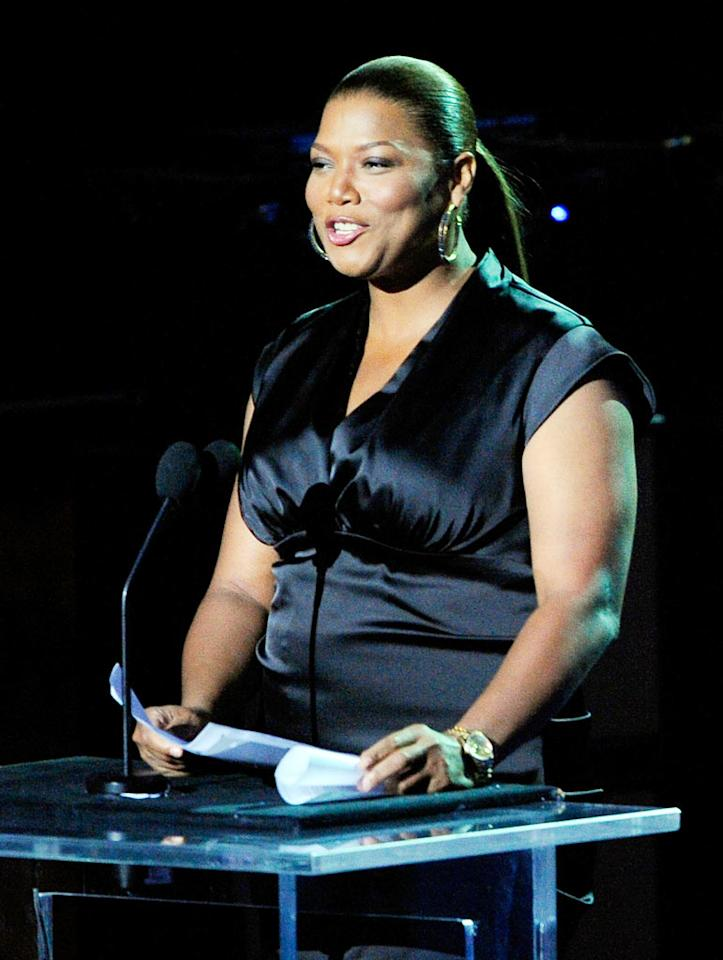 """Queen Latifah recited a Maya Angelou poem called """"We Had Him"""" following Mariah's ode to MJ. Kevork Djansezian/<a href=""""http://www.gettyimages.com/"""" target=""""new"""">GettyImages.com</a> - July 7, 2009"""