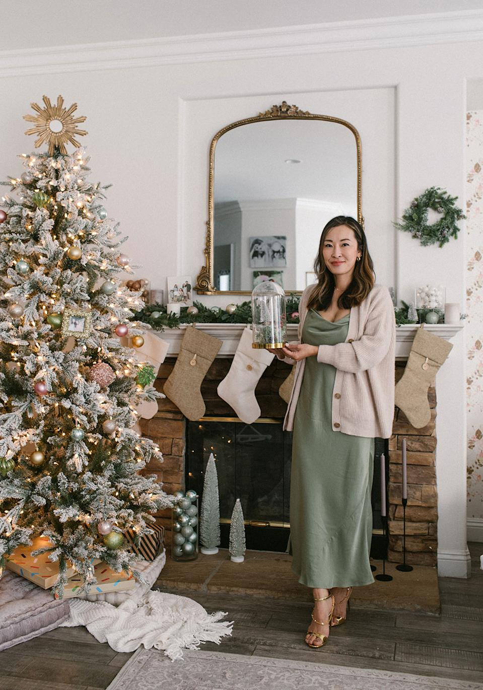 Angela Kim likes to get into the holiday spirit by decorating her family's home, listening to Christmas songs and wearing matching festive pajamas. (Photo courtesy of Angela Kim/Mommy Diary)
