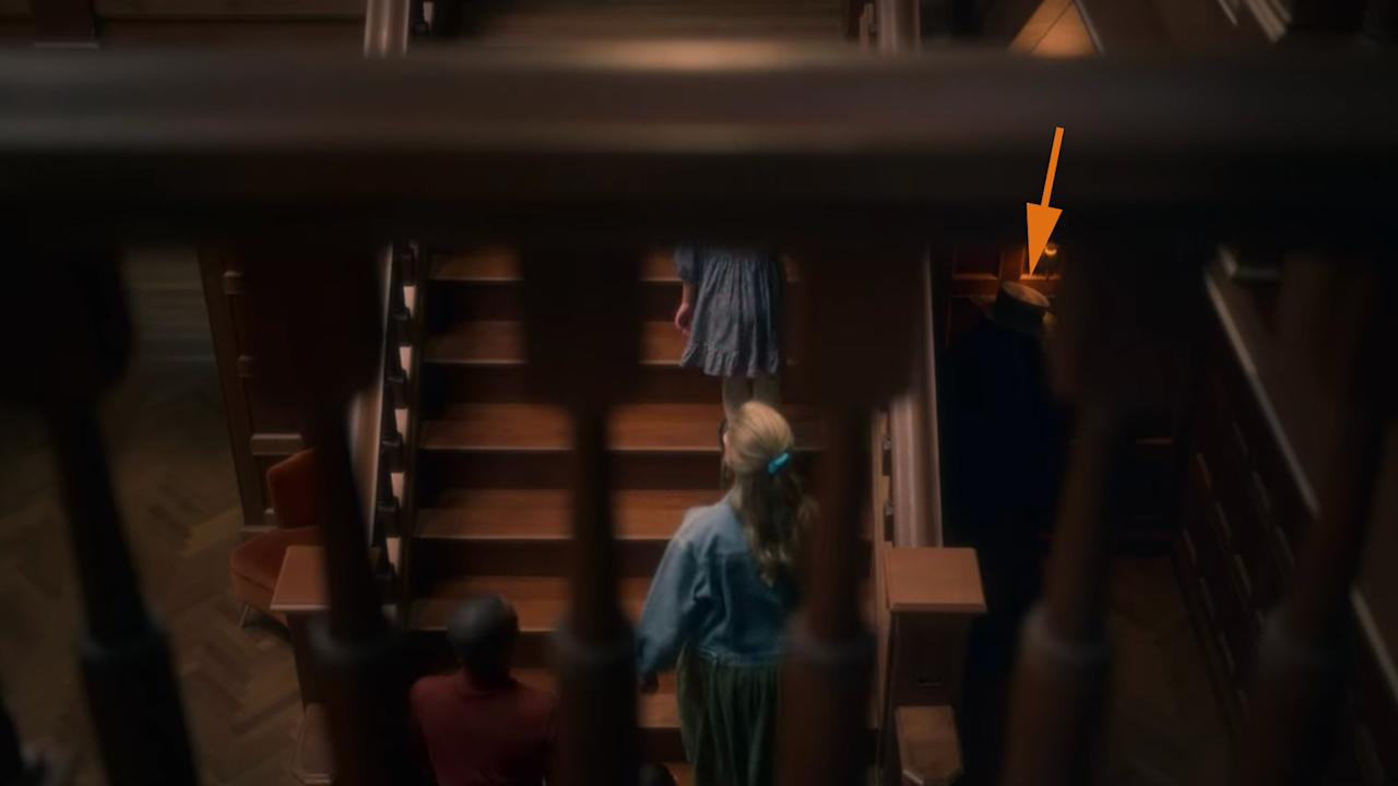<p>                                     The Witch Doctor next to the stairs.                                 </p>