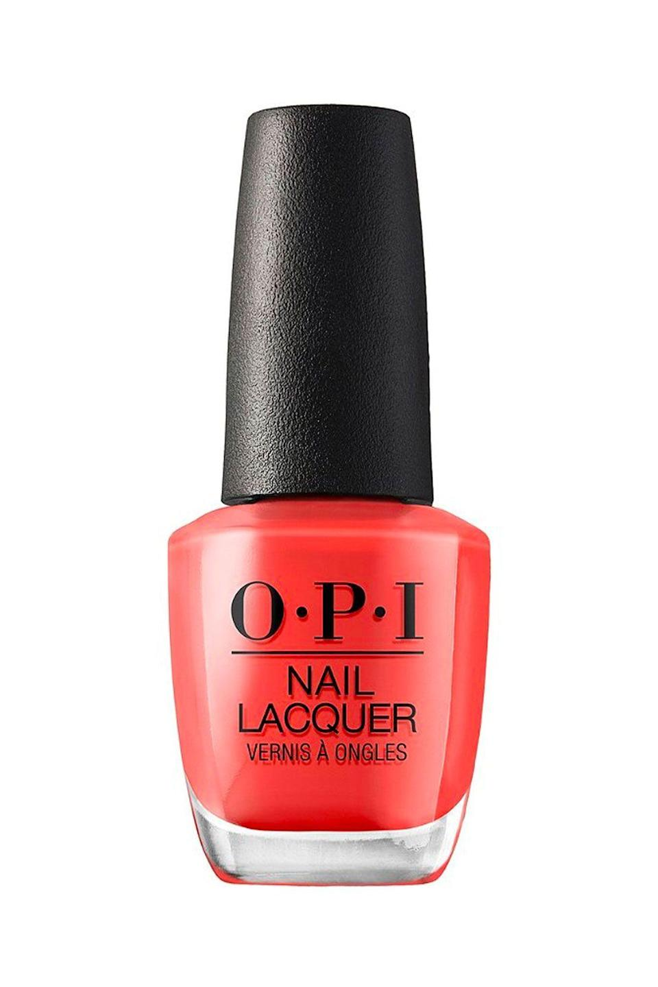 """<p><strong>OPI</strong></p><p>ulta.com</p><p><strong>$10.50</strong></p><p><a href=""""https://go.redirectingat.com?id=74968X1596630&url=https%3A%2F%2Fwww.ulta.com%2Fmexico-city-nail-lacquer-collection%3FproductId%3Dpimprod2013284&sref=https%3A%2F%2Fwww.seventeen.com%2Fbeauty%2Fnails%2Fg2741%2Fbest-spring-nail-colors%2F"""" rel=""""nofollow noopener"""" target=""""_blank"""" data-ylk=""""slk:SHOP NOW"""" class=""""link rapid-noclick-resp"""">SHOP NOW</a></p><p>If your go-to shade is an elegant red but the color feels a little too intense for springtime, opt for a vibrant red-orange. </p>"""