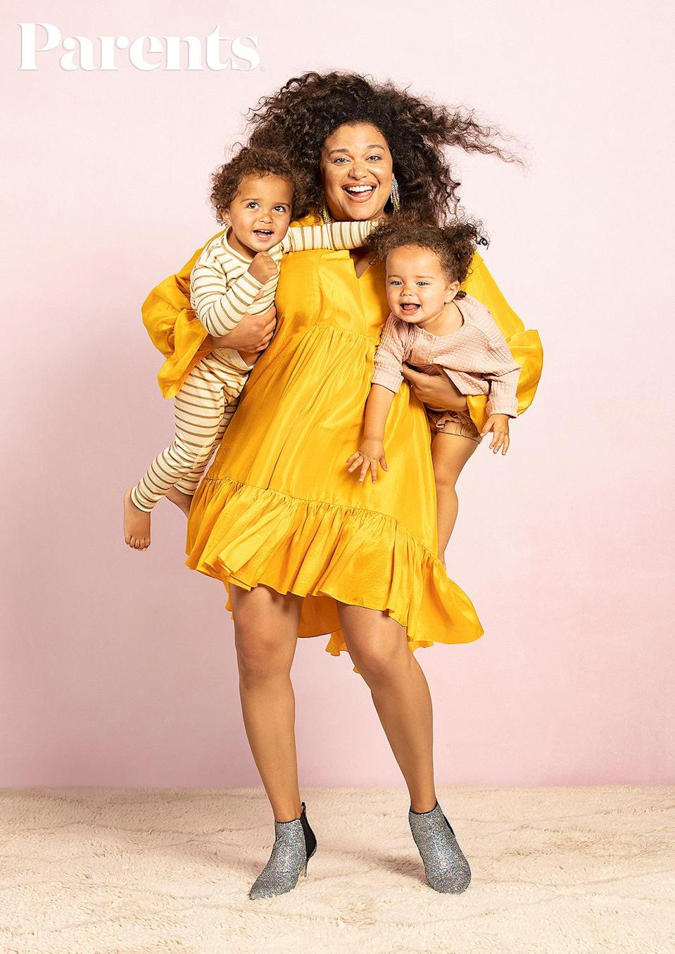 """<p>The comedian shared in her <a href=""""https://www.parents.com/parenting/celebrity-parents/michelle-buteau-on-her-5-year-fertility-struggle-i-didnt-realize-i-was-in-a-world-of-hurt/"""" rel=""""nofollow noopener"""" target=""""_blank"""" data-ylk=""""slk:Parents"""" class=""""link rapid-noclick-resp""""><em>Parents</em></a> cover story that she has had her hands full raising her twin daughters, <a href=""""https://www.instagram.com/p/BtBkZCYhuZx/"""" rel=""""nofollow noopener"""" target=""""_blank"""" data-ylk=""""slk:Hazel and Otis,"""" class=""""link rapid-noclick-resp"""">Hazel and Otis,</a> without outside help.</p> <p>""""I didn't know if I could do it,"""" she told friend <a href=""""https://people.com/tag/wanda-sykes/"""" rel=""""nofollow noopener"""" target=""""_blank"""" data-ylk=""""slk:Wanda Sykes"""" class=""""link rapid-noclick-resp"""">Wanda Sykes</a>, also a mom to twins, for <a href=""""https://www.parents.com/parenting/celebrity-parents/michelle-buteau-on-her-5-year-fertility-struggle-i-didnt-realize-i-was-in-a-world-of-hurt/"""" rel=""""nofollow noopener"""" target=""""_blank"""" data-ylk=""""slk:the December issue"""" class=""""link rapid-noclick-resp"""">the December issue</a>. </p> <p>""""Up until [the quarantine] I had always had help with the babies. So being alone with them, it felt like I was snorkeling for the first time and didn't know how to breathe yet,"""" she said. """"I felt bad for being impatient. I don't want to be that parent yelling all the time.""""</p> <p>Buteau, whose Netflix comedy special <em>Welcome to Buteaupia </em>is streaming now, recalled that she """"quickly learned that it's all about taking five in the bathroom, recollecting your thoughts, putting on the TV, giving them a crayon"""" to stay sane. In the end, the mom of two realized that she """"can do this.""""</p> <p>""""Up until the pandemic, we had an amazing nanny, and I had friendships. Now that we're really broken-in as a family, I feel like, 'Oh wow, I got this,' """" said Buteau.</p>"""