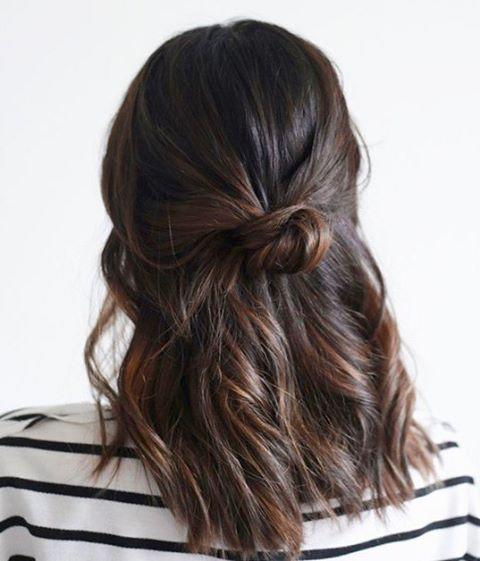 """<p>A subtle balayage on dark brown hair gives it some extra depth and richness. </p><p><a href=""""https://www.instagram.com/p/By1Cqo4F3fj/"""">See the original post on Instagram</a></p>"""