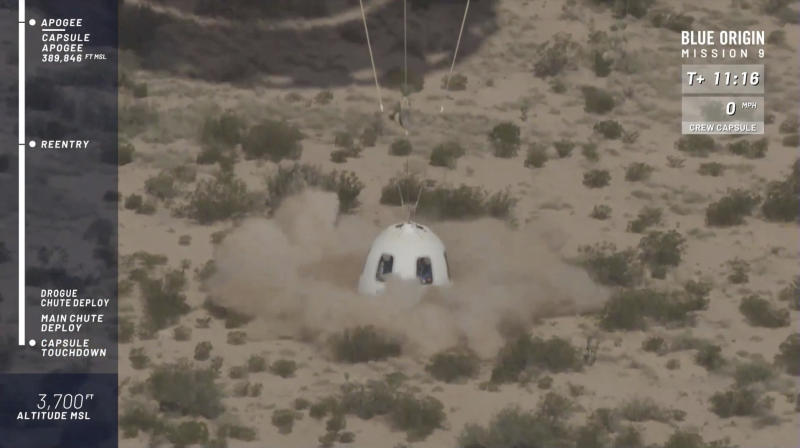 Successful Blue Origin Rocket Test in West Texas