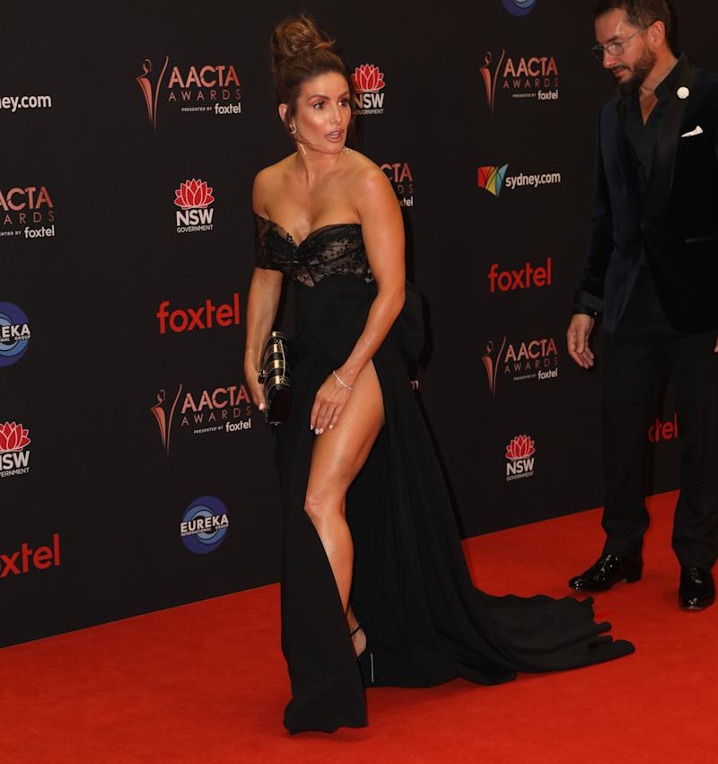 Ada Nicodemou pictured on AACTAs red carpet