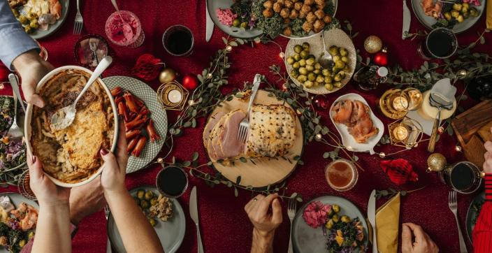 """<span class=""""caption"""">Getting the portions right can be tricky. </span> <span class=""""attribution""""><a class=""""link rapid-noclick-resp"""" href=""""https://www.gettyimages.com/detail/photo/typical-swedish-scandinavian-christmas-food-royalty-free-image/1183586464"""" rel=""""nofollow noopener"""" target=""""_blank"""" data-ylk=""""slk:knape/E+ via Getty Images"""">knape/E+ via Getty Images</a></span>"""