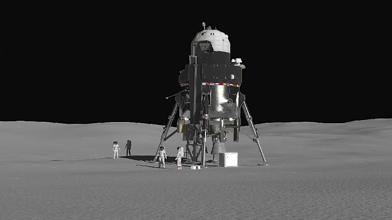 In the United States develop a lander for the moon