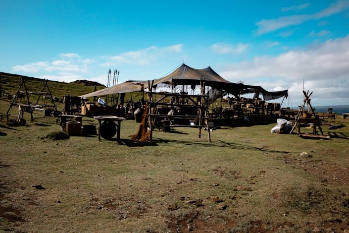 The set for filming of the Game of Thrones prequel
