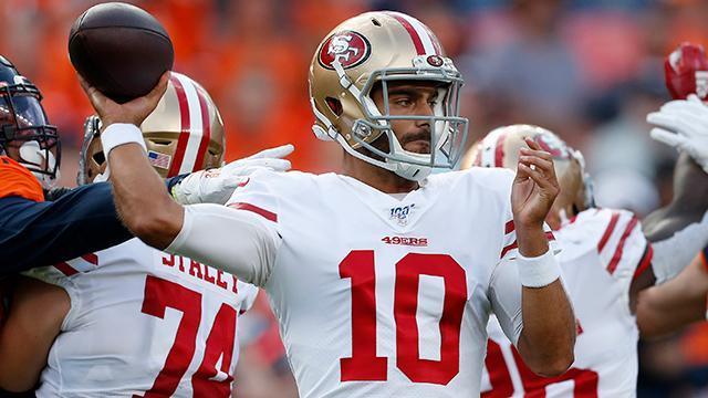 NFL Network's Terrell Davis reveals the toughest problem San Francisco 49ers Jimmy Garoppolo has right now.