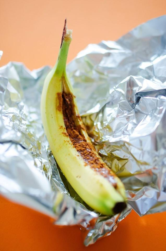 """<p>You only need <a rel=""""nofollow"""" href=""""http://www.self.com/gallery/11-healthy-3-ingredient-breakfasts?mbid=synd_yahoofood"""">three ingredients</a> to make these bananas: almond butter, cinnamon, and (of course) bananas. Get the recipe <a rel=""""nofollow"""" href=""""http://www.liveeatlearn.com/almond-butter-baked-bananas?mbid=synd_yahoofood"""">here</a>.</p>"""