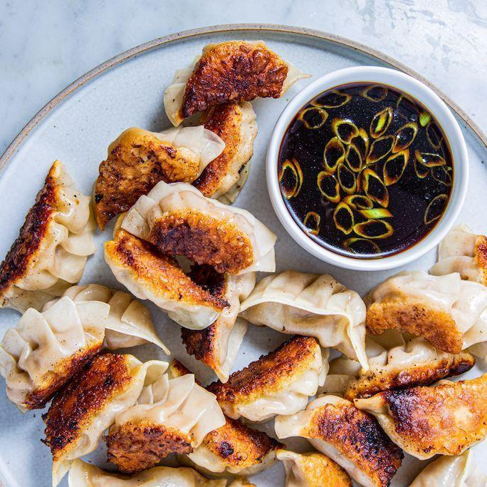 "<p>Potstickers are always a good idea. They make a great appetizer or afternoon snack, and they can also work as a main dish, perhaps with a side of steamed and salted edamame. </p><p><strong><em>Get the recipe at <a href=""https://www.delish.com/cooking/recipe-ideas/a28929402/pot-stickers-recipe/"" rel=""nofollow noopener"" target=""_blank"" data-ylk=""slk:Delish"" class=""link rapid-noclick-resp"">Delish</a>. </em></strong></p>"