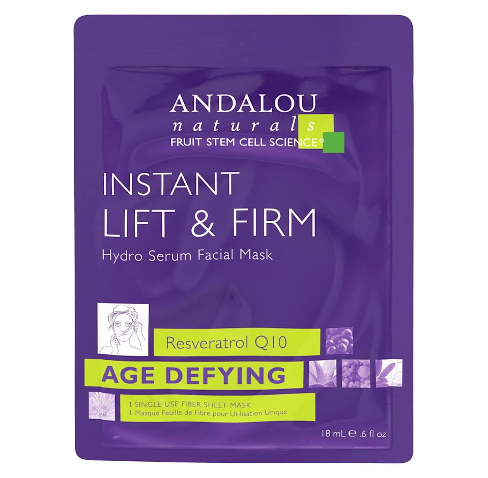 <p>When you're trying to reduce the appearance of wrinkles or sagging, the <span>Andalou Naturals Age Defying Lift &amp; Firm Hydro Serum Facial Mask </span> ($5) will be your saving grace. The brand uses what it calls Fruit Stem Cell Science to plump your skin for a firmer appearance. After one use, you'll likely notice that you already feel smoother.</p>