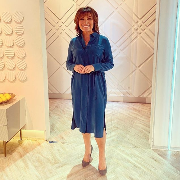 """<p>This teal dress is everything we want from a spring outfit.</p><p><strong>M&S</strong></p><p>Pure Silk Midi Shirt Dress - £99</p><p><a class=""""body-btn-link"""" href=""""https://go.redirectingat.com?id=127X1599956&url=https%3A%2F%2Fwww.marksandspencer.com%2Fpure-silk-midi-shirt-dress%2Fp%2Fclp60276514%3Fimage%3DSD_01_T50_3043R_NT_X_EC_90%26color%3DTEAL%26prevPage%3Dsrp%253FOmnitureRedirect%253Dteal%2Bshirt%2Bdress&sref=https%3A%2F%2Fwww.prima.co.uk%2Fleisure%2Fcelebrity%2Fg30751501%2Florraine-kelly-fashion%2F"""" target=""""_blank"""">BUY NOW</a></p>"""