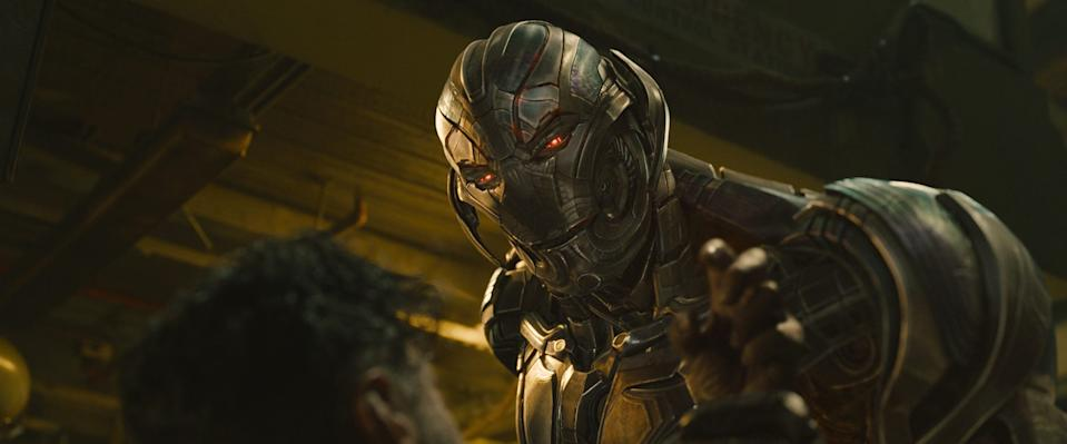 """Ultron (voiced by James Spader) in a scene from the motion picture """"Avengers: Age Of Ultron."""""""