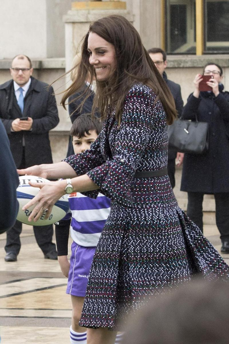 Game for a laugh: The Duchess of Cambridge (Getty Images)