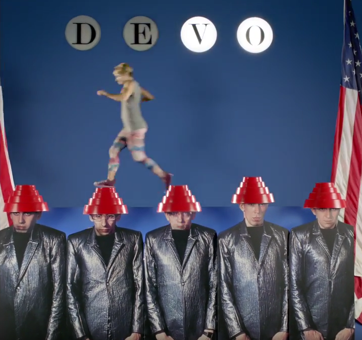 a 3D recreation of Devo's 'Freedom of Choice'