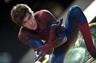 Andrew Garfield as Peter Parker in 'The Amazing Spider-Man' (2012) Real age at the time: 26 - Character age: 17