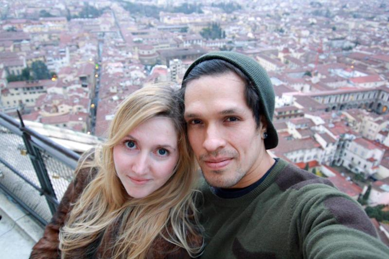 Caia Daly and husband Carlos Abisrror