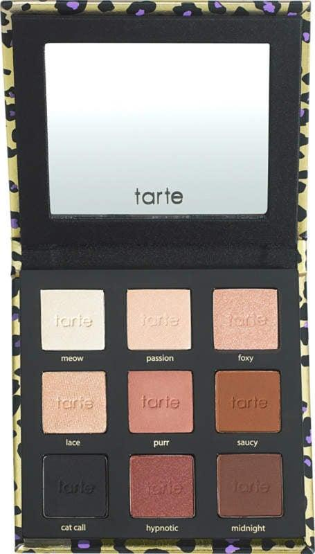 """<p>The <a href=""""https://www.popsugar.com/buy/Tarte-Maneater-Eye-Shadow-Palette-V2-310702?p_name=Tarte%20Maneater%20Eye%20Shadow%20Palette%20V2&retailer=ulta.com&pid=310702&price=29&evar1=bella%3Aus&evar9=46721492&evar98=https%3A%2F%2Fwww.popsugar.com%2Fbeauty%2Fphoto-gallery%2F46721492%2Fimage%2F46721513%2FTarte-Maneater-Eye-Shadow-Palette-V2&list1=makeup%2Ceye%20shadow%2Cbeauty%20products%2Ctarte%2Culta%2Cbeauty%20shopping%2Cmakeup%20palettes%2Cgifts%20for%20women%2Cbeauty%20product%20review%2Cbest%20of%202018&prop13=api&pdata=1"""" rel=""""nofollow"""" data-shoppable-link=""""1"""" target=""""_blank"""" rel=""""nofollow"""" class=""""ga-track"""" data-ga-category=""""Related"""" data-ga-label=""""https://www.ulta.com/maneater-eyeshadow-palette-v2?productId=xlsImpprod17791057&amp;sku=2523400"""" data-ga-action=""""In-Line Links"""">Tarte Maneater Eye Shadow Palette V2</a> ($29) will become your go-to for a night out dancing. The warm metallic and matte hues make it easy to channel your inner J Lo, and each one feels like butter.</p>"""