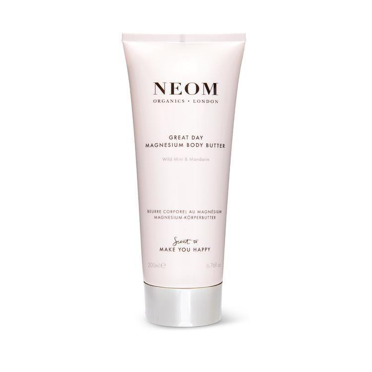 """<p><strong>Great Day</strong></p><p>neomorganics.com</p><p><strong>$41.00</strong></p><p><a href=""""https://us.neomorganics.com/products/great-day-magnesium-body-butter"""" rel=""""nofollow noopener"""" target=""""_blank"""" data-ylk=""""slk:Shop Now"""" class=""""link rapid-noclick-resp"""">Shop Now</a></p>"""