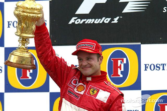 "Rubens Barrichello (9 victorias) <span class=""copyright"">Bridgestone Corporation</span>"