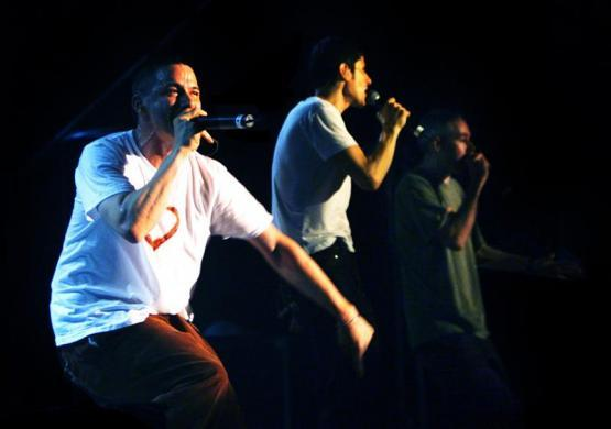 The Beastie Boys perform at the first Tibetan FreedomConcert before an ethnic Chinese audience in Taipei, April 20, 2003.