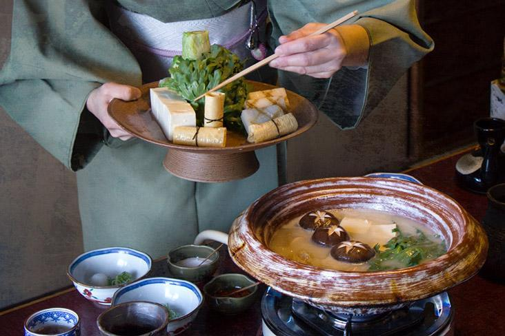 Variations of Japanese hotpot such as 'nabe', 'sukiyaki' and 'shabu shabu' help ward off the winter cold.