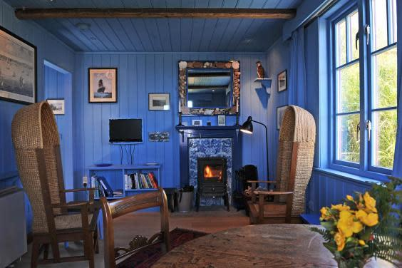 Berwickshire's Blue Cabin is blue inside and out (Host Unusual)