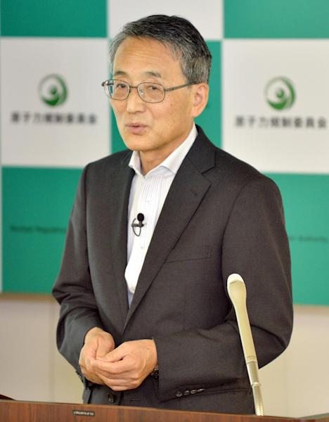 Shunichi Tanaka, chairman of the Nuclear Regulation Authority, speaks during a press briefing in Tokyo on July 16, 2014 (AFP Photo/Kazuhiro Nogi)