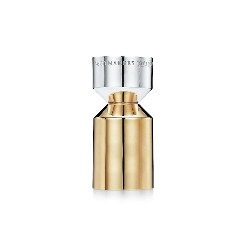 """<p><strong>Tiffany & Co.</strong></p><p>tiffany.com</p><p><strong>$325.00</strong></p><p><a href=""""https://www.tiffany.com/accessories/barware/tiffany-1837-makers-cocktail-jigger-in-sterling-silver-and-brass-63311863/"""" rel=""""nofollow noopener"""" target=""""_blank"""" data-ylk=""""slk:Shop Now"""" class=""""link rapid-noclick-resp"""">Shop Now</a></p><p>This sterling silver–and-brass cocktail jigger by Tiffany & Co. is sure to inspire confidence in your own drink-making skills. </p>"""