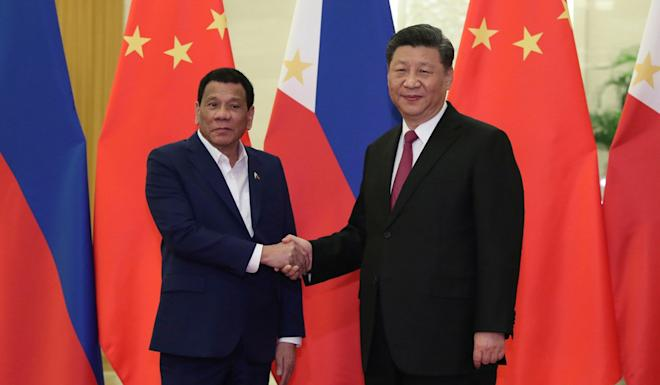 Rodrigo Duterte and Xi Jinping made a verbal agreement on fishing rights in 2016. Photo: AFP