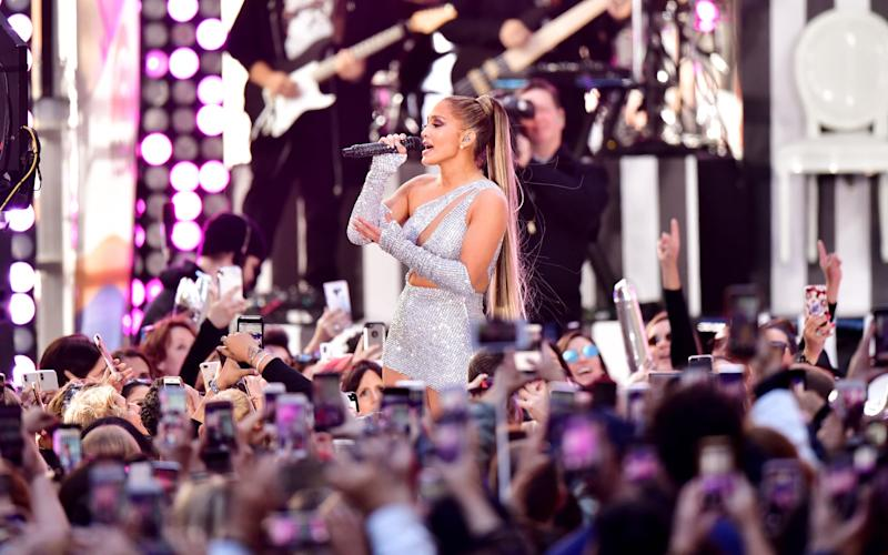 NEW YORK, NY - MAY 06: Jennifer Lopez performs on NBC's 'Today' show at Rockefeller Center on May 6, 2019 in New York City. (Photo by James Devaney/GC Images)