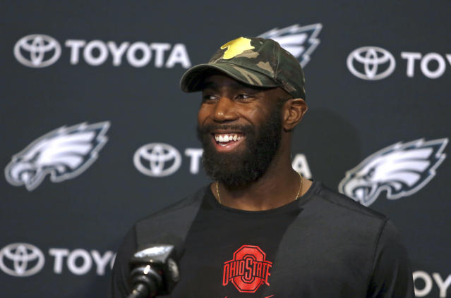 Philadelphia Eagles safety malcolm Jenkins invited a recently-released prisoner to Super Bowl LII. (AP)
