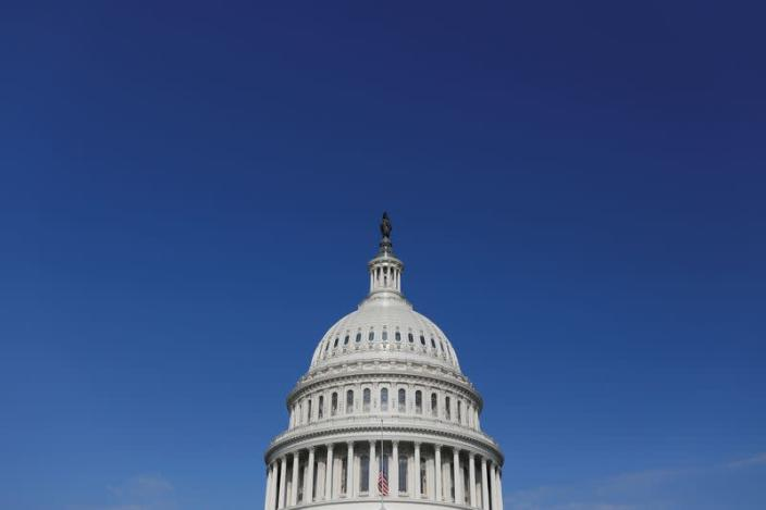 General view of the U.S. Capitol building, amid the coronavirus (COVID-19) outbreak on Capitol Hill in Washington