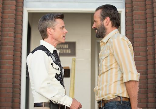 Sam Trammell and Jason Lee in 'Cocked'