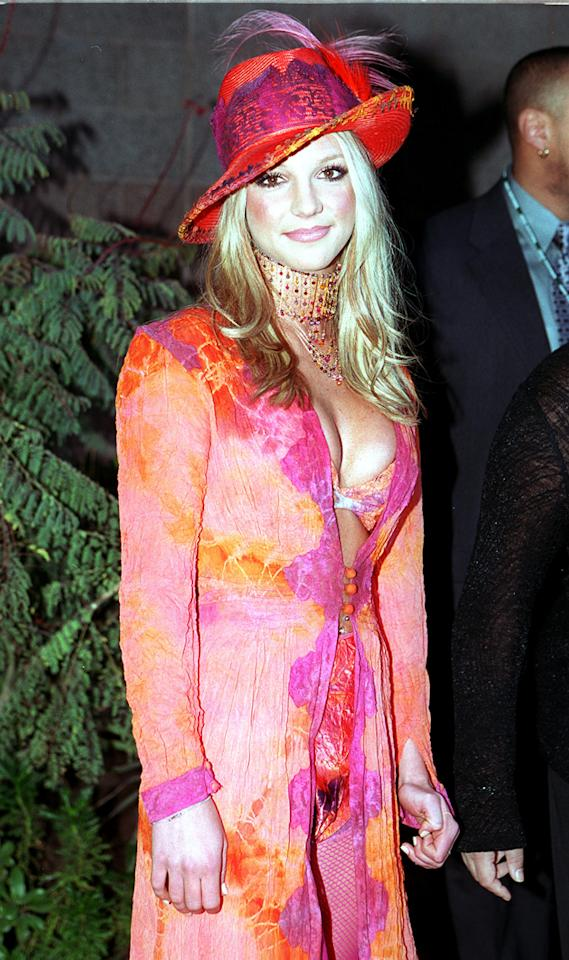 Ah don't you just love good old early-noughties fashion?! Here in 2000, Britney donned a garish ensemble - but her gorgeous smile means she manages to pull it off.