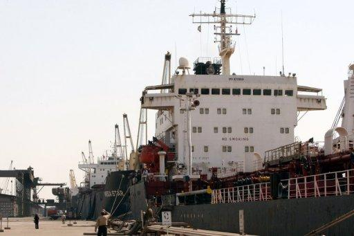 File photo shows ships docked at Iran's Imam Khomeini port in Mahshahr. The side-effects of US sanctions on companies buying oil from Iran include a cutoff in fuel supplies to Iran Air and shipping companies' reluctance to call on Iranian ports