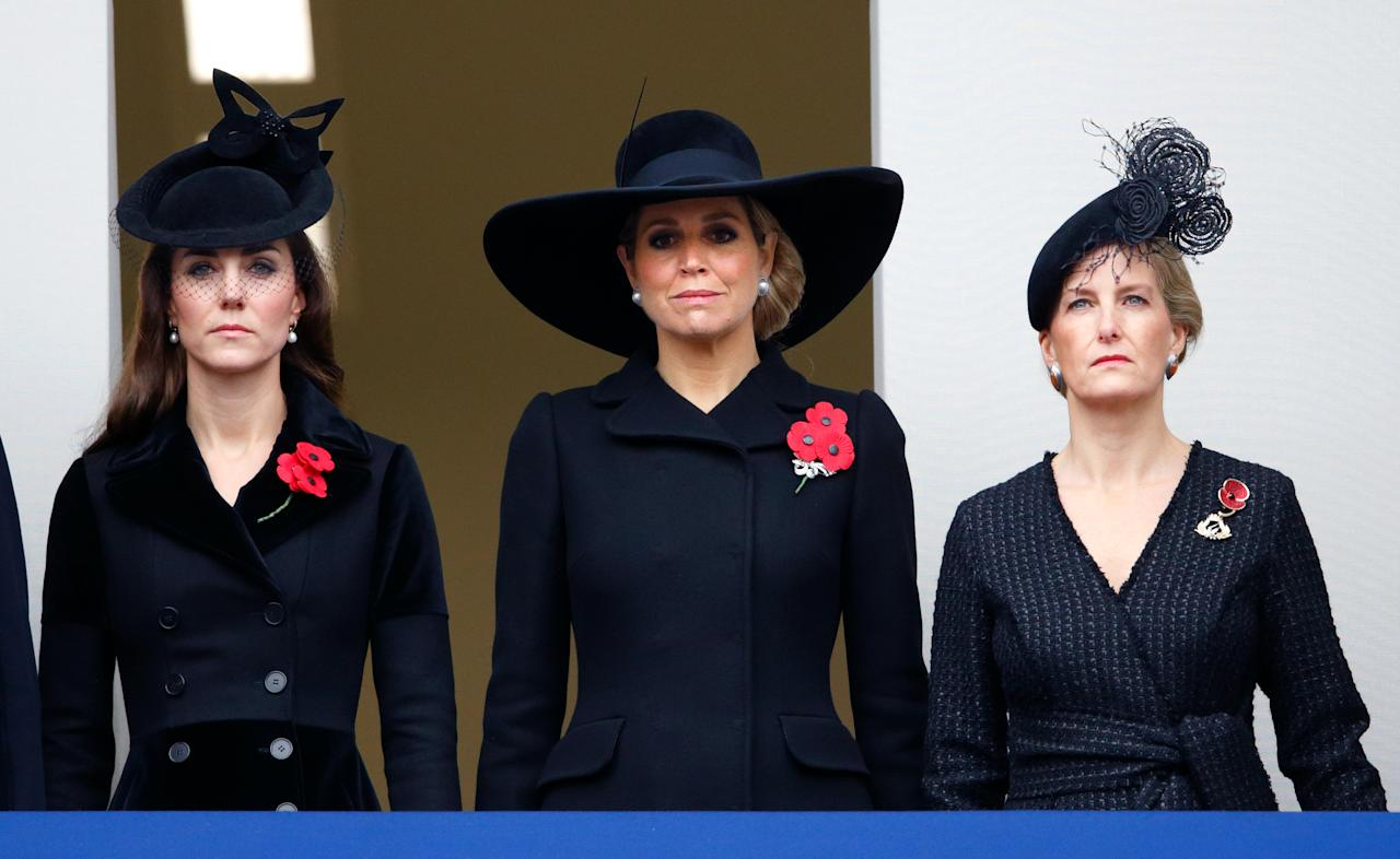 """<p>When abroad every royal member must pack an all-black outfit in their suitcase, in case of a sudden death. The packing requirement guarantees they'd be dressed appropriately upon return home to England, <a rel=""""nofollow"""" href=""""https://www.indy100.com/article/royal-family-pack-extra-outfit-morbid-reason-death-queen-wardrobe-7867386"""">according to</a> <em>The Independent</em>. </p>"""