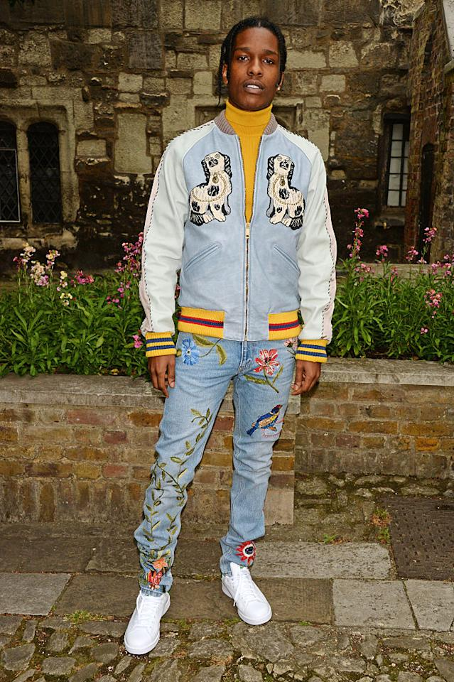 <p>Rapper ASAP Rocky certainly lives up to his song 'Fashion Killa' with a serious penchant for Gucci. And we're not surprised that his innate knack at sporting designer athleisure landed him second place in the style stakes. <em>[Photo: Getty]</em> </p>