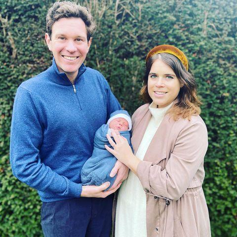 """<p>To introduce son August Philip Hawke to the world, Princess Eugenie sported an accessory all moms are familiar with: a headband. Not only does the accessory keep mothers without hair falling into their eyes, but it gives any outfit an instant upgrade.</p> <p><strong>Buy It! Jennifer Behr's</strong> <strong>Thada Headband in Velvet, <a href=""""https://www.jenniferbehr.com/products/thada-velvet-headband?variant=Topaz"""" rel=""""nofollow noopener"""" target=""""_blank"""" data-ylk=""""slk:$225"""" class=""""link rapid-noclick-resp"""">$225</a>.</strong></p> <p><strong>Get the Look!<br></strong><strong>Madewell Padded Headband, <a href=""""https://www.anrdoezrs.net/links/8029122/type/dlg/sid/PEO18RegalMothersDayGiftsInspiredbyRealLifeRoyalMomspetitsRoyGal12686606202105I/https://www.madewell.com/padded-headband-99106094085.html"""" rel=""""sponsored noopener"""" target=""""_blank"""" data-ylk=""""slk:$13"""" class=""""link rapid-noclick-resp"""">$13</a><br></strong><strong>Free People Mini Molly Headband, <a href=""""https://click.linksynergy.com/deeplink?id=93xLBvPhAeE&mid=43177&murl=https%3A%2F%2Fwww.freepeople.com%2Fshop%2Fmini-molly-headband%2F%3Fcolor%3D020%26amp%3Btype%3DREGULAR%26amp%3Bsize%3DOne%2BSize%26amp%3Bquantity%3D1&u1=PEO18RegalMothersDayGiftsInspiredbyRealLifeRoyalMomspetitsRoyGal12686606202105I"""" rel=""""sponsored noopener"""" target=""""_blank"""" data-ylk=""""slk:$20"""" class=""""link rapid-noclick-resp"""">$20</a><br></strong><strong>Hairology Velvet Puffy Headband, <a href=""""https://ulta.ztk5.net/c/249354/164999/3037?subId1=PEO18RegalMothersDayGiftsInspiredbyRealLifeRoyalMomspetitsRoyGal12686606202105I&u=https%3A%2F%2Fwww.ulta.com%2Fhairology-velvet-puffy-headband%3FproductId%3Dpimprod2010884"""" rel=""""sponsored noopener"""" target=""""_blank"""" data-ylk=""""slk:$10"""" class=""""link rapid-noclick-resp"""">$10</a></strong></p>"""