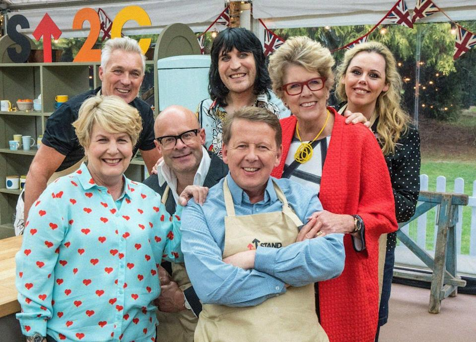The celebs on the first episode of this year's celeb Bake Off. (Channel 4)
