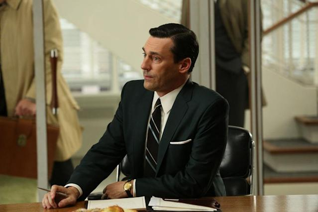 "Don Draper (Jon Hamm) in the ""Mad Men"" episode, ""To Have and to Hold."""