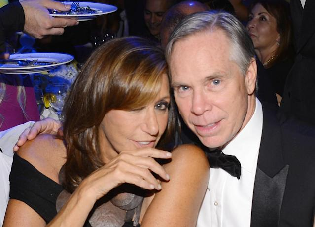 NEW YORK, NY - SEPTEMBER 12: (Exclusive Coverage) Designers Donna Karan and Tommy Hilfiger attend The Novak Djokovic Foundation's inaugural dinner at Capitale on September 12, 2012 in New York City. (Photo by Larry Busacca/Getty Images)