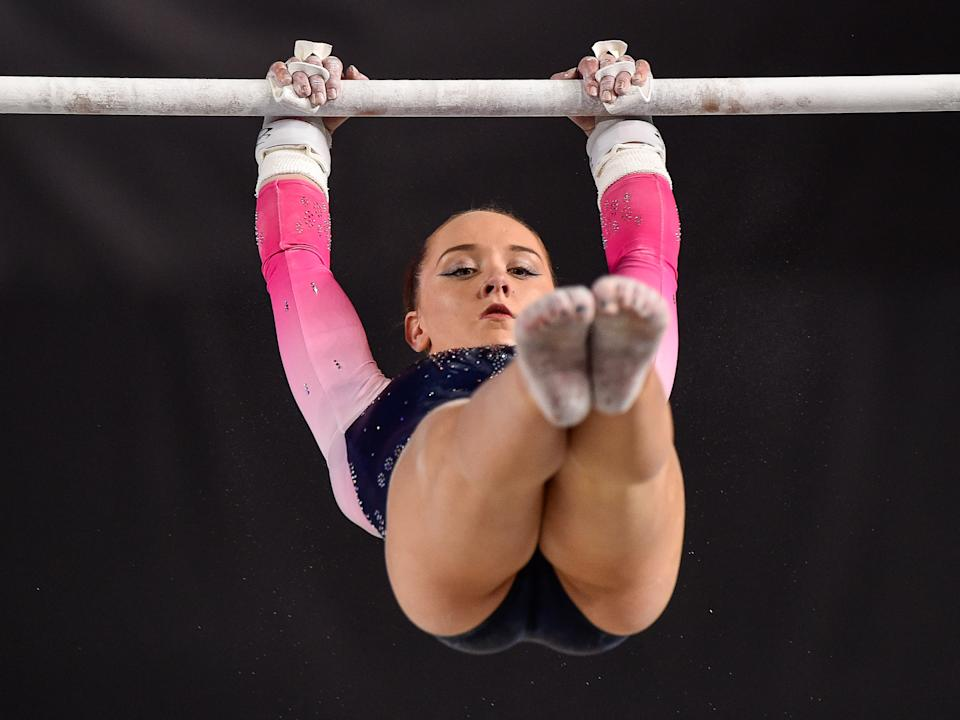 MONTREAL, QC - OCTOBER 03: Amy Tinkler of Great Britain competes on the uneven bars during the qualification round of the Artistic Gymnastics World Championships on October 3, 2017 at Olympic Stadium in Montreal, Canada. (Photo by Minas Panagiotakis/Getty Images)
