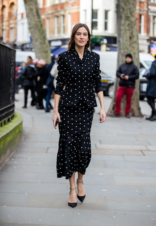 <p>The former model, TV presenter and It-girl turned fashion designer Alexa Chung has long been admired for her wardrobe of modern essentials mixed with vintage shapes and prints. Whether high-street or high-end, her carefully chosen pieces often sell out, thanks to her superb eye and ability to add a personal touch to timeless looks.</p>