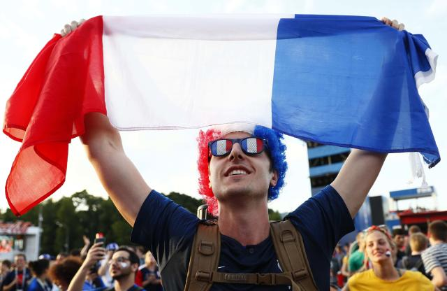 Soccer Football - World Cup - Group C - France vs Peru - Moscow, Russia - June 21, 2018 A France fan celebrates victory of his team after the match. REUTERS/Gleb Garanich