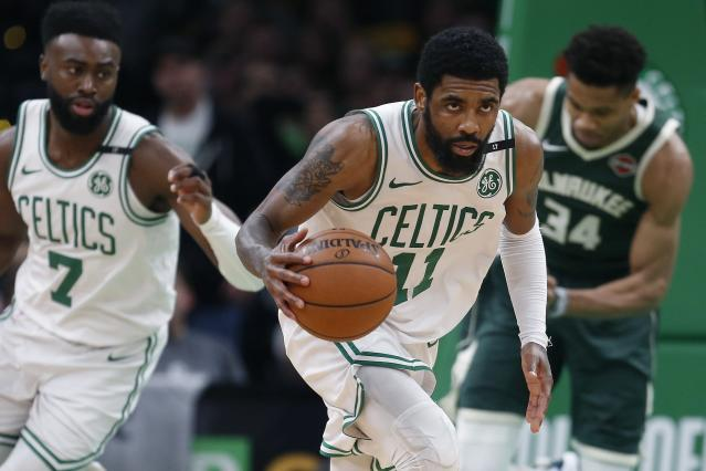 Kyrie Irving has been linked to a number of destinations. (AP)