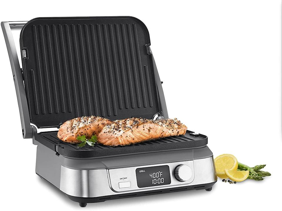 <p>You can never go wrong with the <span>Cuisinart Electric Griddler, Stainless Steel</span> ($100). Use it to grill your favorite meats and veggies or even make yummy paninis.</p>