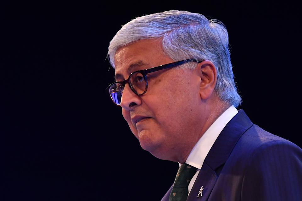 Diageo CEO Ivan Menezes speaks at the annual Confederation of British Industry (CBI) conference in London, on 18 November 2019. Photo: Ben Stansall/AFP via Getty Images